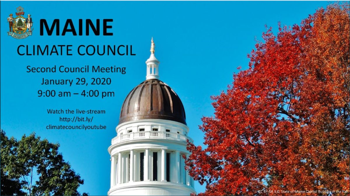 Maine Climate Council meeting – Wednesday, 29 Jan 2020